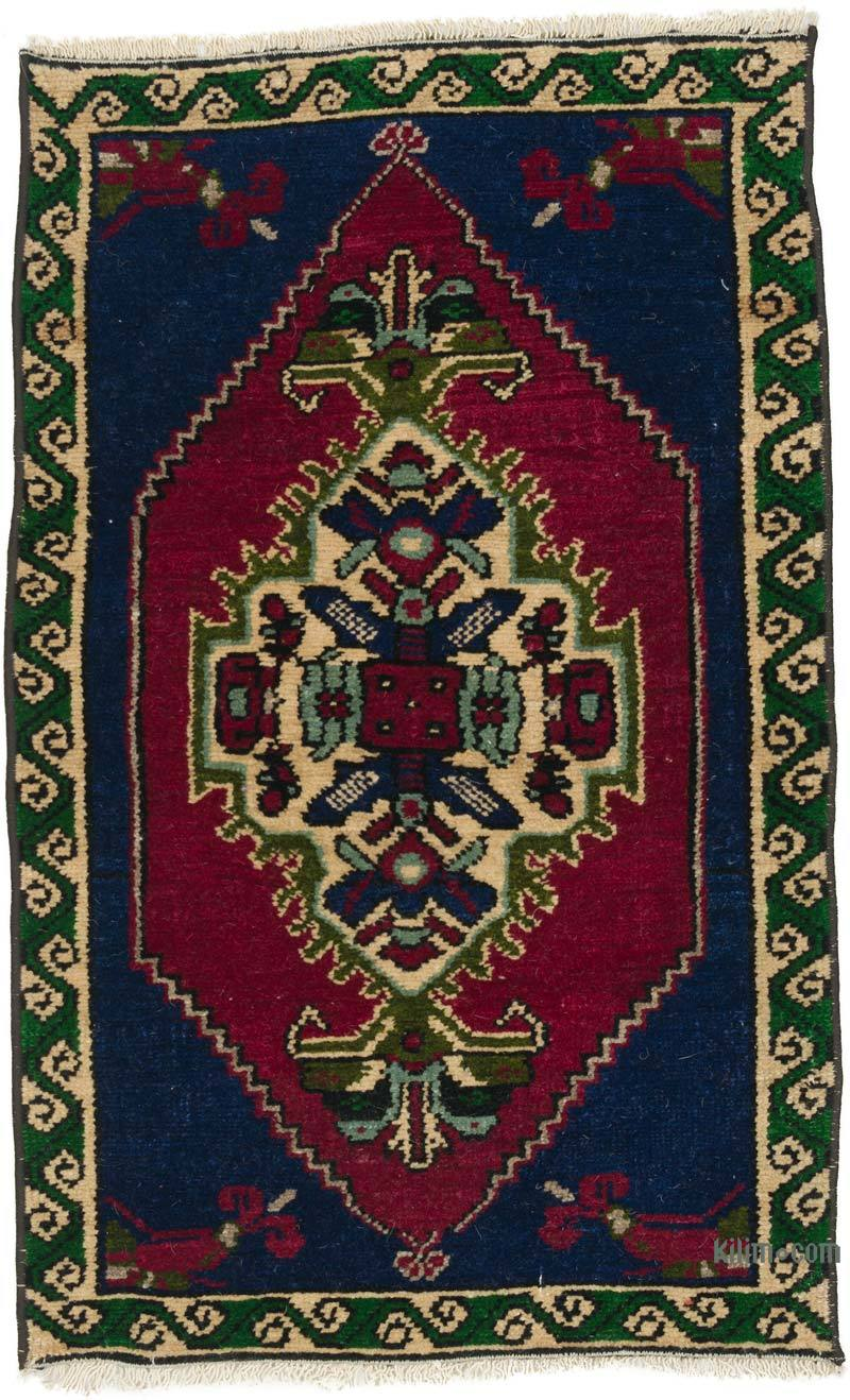 """Vintage Turkish Hand-Knotted Rug - 1' 8"""" x 2' 7"""" (20 in. x 31 in.) - K0057167"""