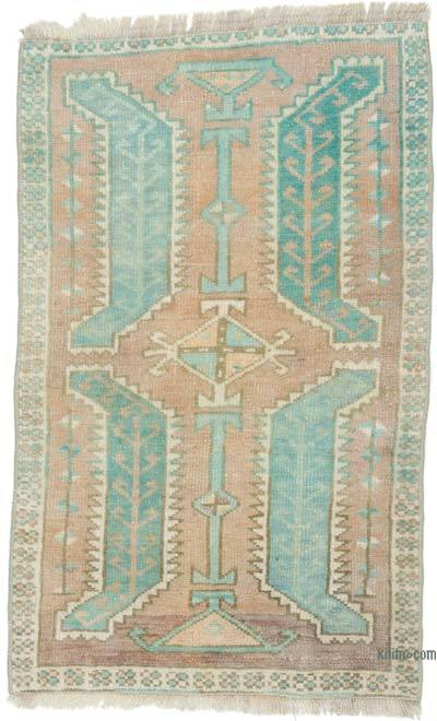 """Vintage Turkish Hand-Knotted Rug - 1' 9"""" x 2' 10"""" (21 in. x 34 in.)"""