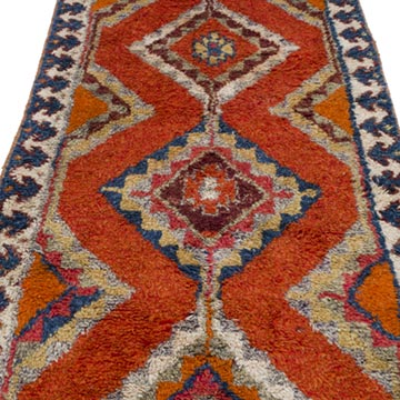 "Vintage Turkish Runner Rug - 3'  x 11' 6"" (36 in. x 138 in.) - K0057194"