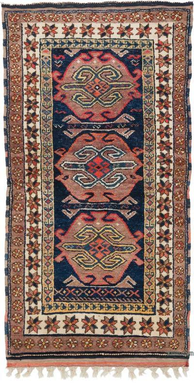 """Vintage Turkish Hand-Knotted Rug - 3' 10"""" x 7' 2"""" (46 in. x 86 in.)"""