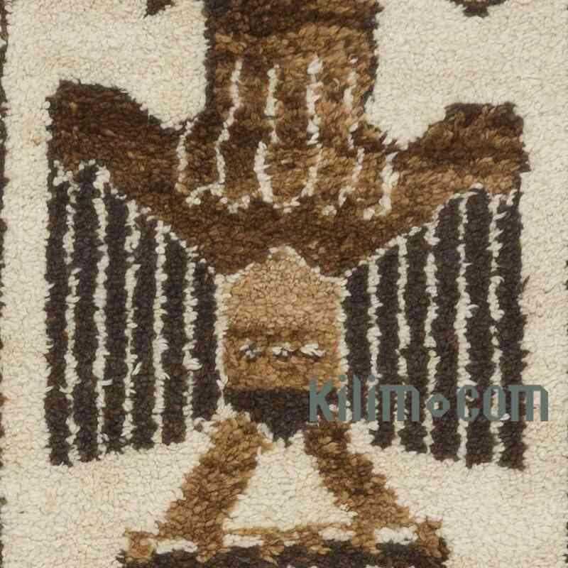 Bej, Kahverengi Vintage Anadolu Yolluk - 94 cm x 393 cm - K0057268