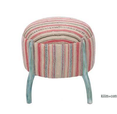 Vintage Kilim Upholstered Stool