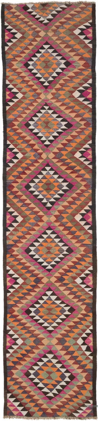 Kilim Vintage Turco de Pasillo - 90 cm x 380 cm