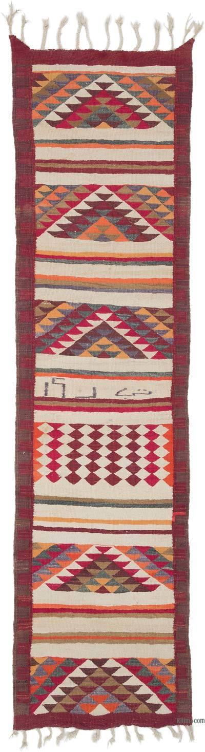 Kilim Vintage Turco de Pasillo - 88 cm x 327 cm