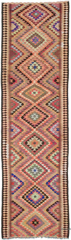 Kilim Vintage Turco de Pasillo