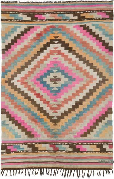 Multicolor Alfombra Vintage Mihalic Kilim