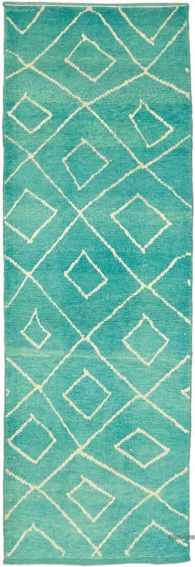 Nueva alfombra de corredor de estilo marroquí - 100 cm x 298 cm