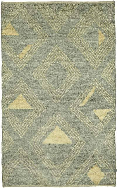 """New Hand-Knotted Rug - 3' 1"""" x 4' 10"""" (37 in. x 58 in.)"""